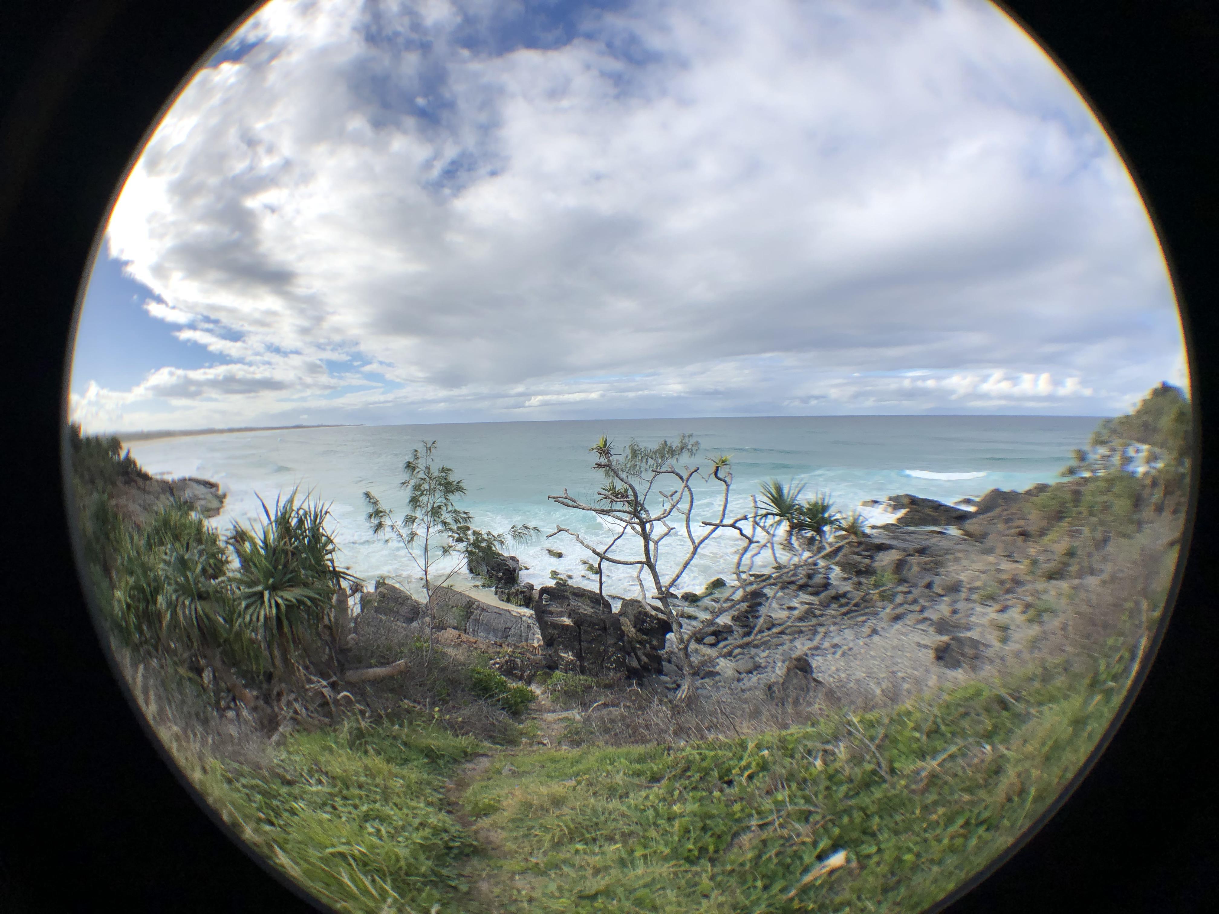 Cabarita Headland with Fisheye Lens