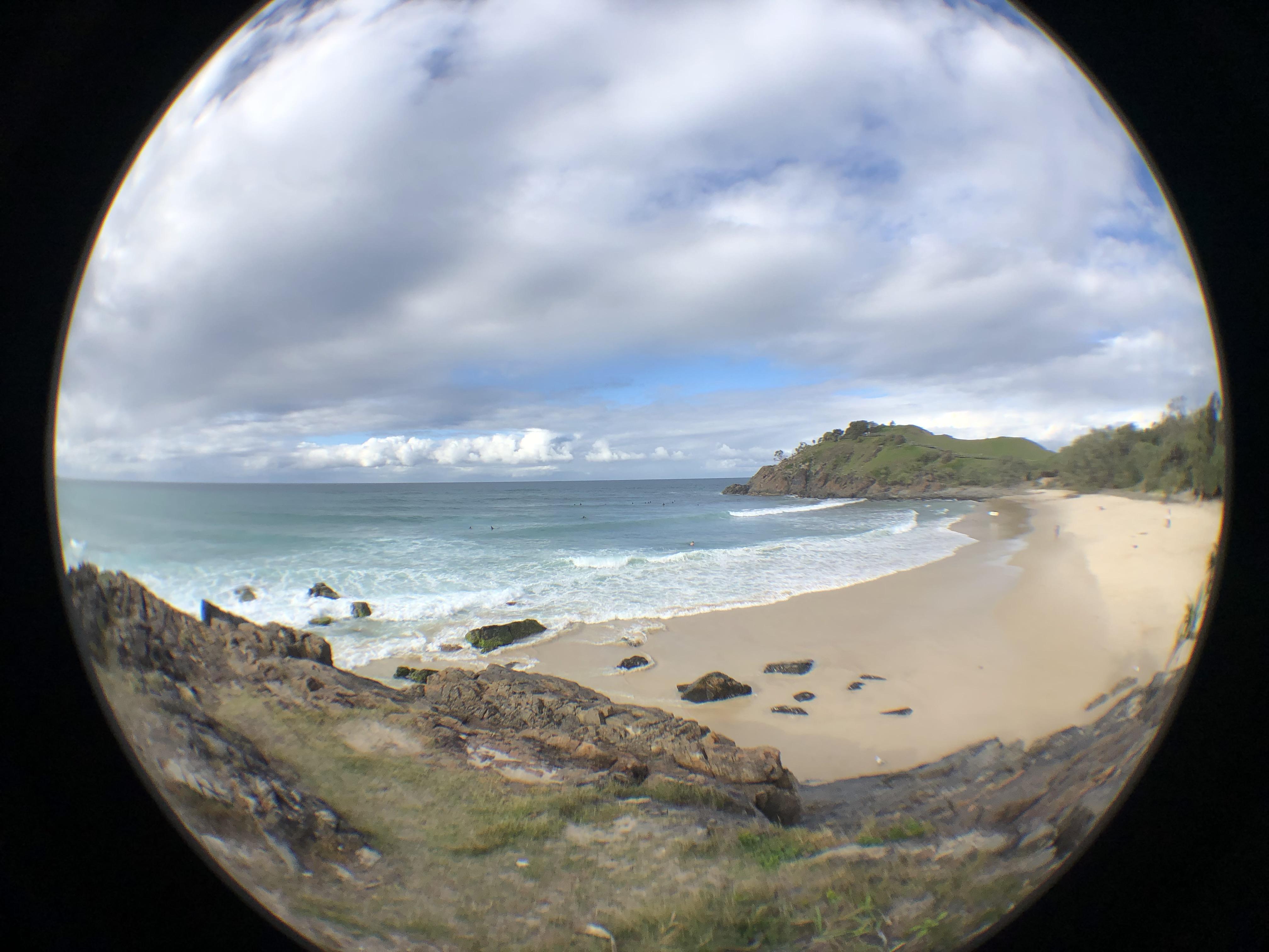 Cabarita Beach with Fisheye Lens