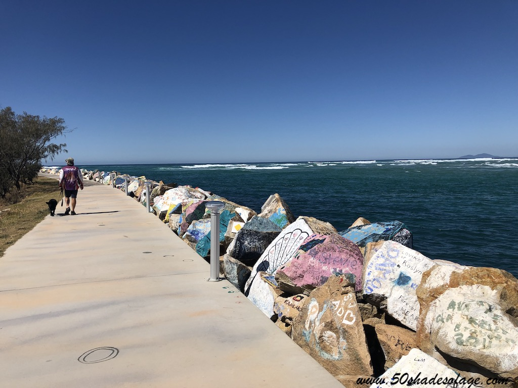 Stroll around the famous V Wall and paint your own unique piece of artwork or message on the rocks.