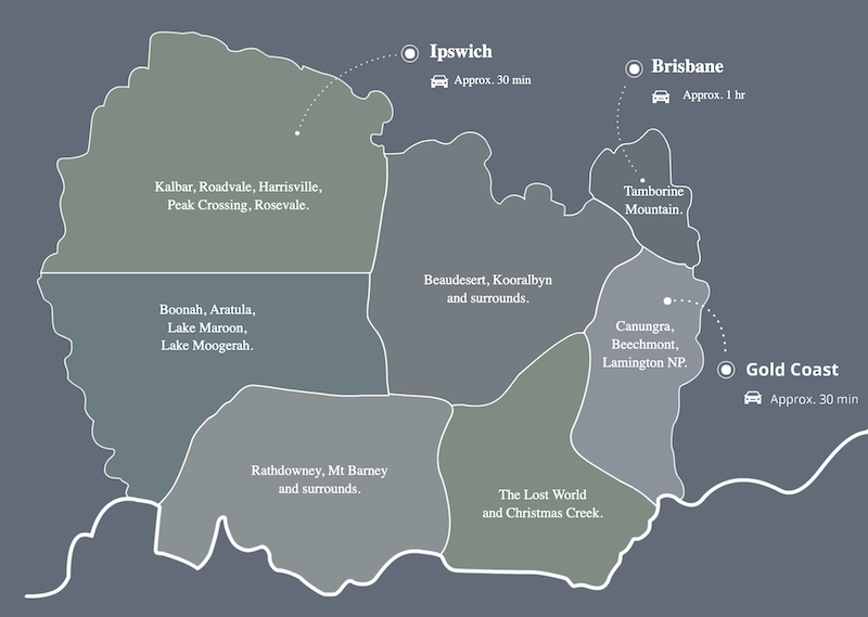 Scenic Rim Map